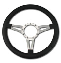 (1941-94)  Steering Wheel-Black Leather-Polished