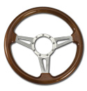 (1941-94)  Steering Wheel-Wood Walnut-Polished