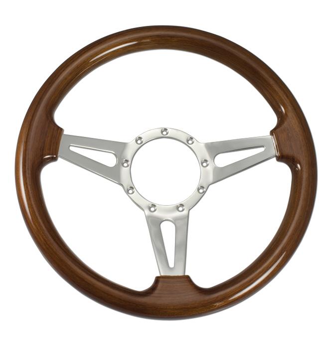 (1941-94)  Steering Wheel-Wood Walnut-Polished