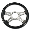 (1941-94)  Steering Wheel-Wood Black Ash-Polished 4 Spoke