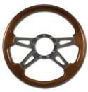 (1941-94)  Steering Wheel-Wood Walnut-Polished 4 Spoke