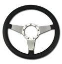 (1941-94)  Steering Wheel-Black Leather-Polished No Holes