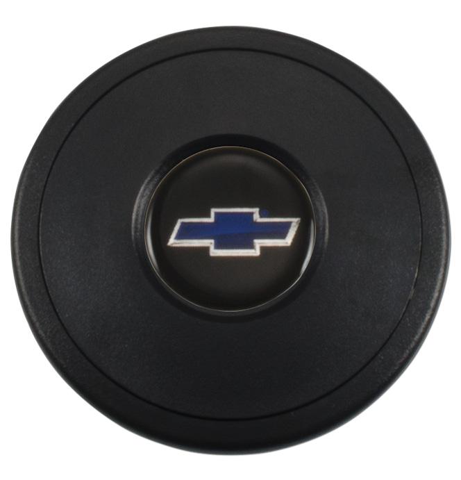 (1941-94)  Steering Wheel Horn Cap Blue Bowtie 9 Bolt
