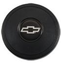 (1941-94)  Steering Wheel Horn Cap Silver Bowtie 9 Bolt
