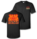 T-Shirt - Flames Chevy Racing