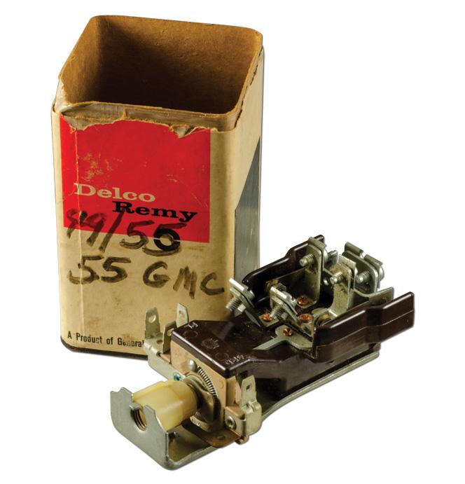 (1955) NOS Headlamp Switch 6 volt GMC