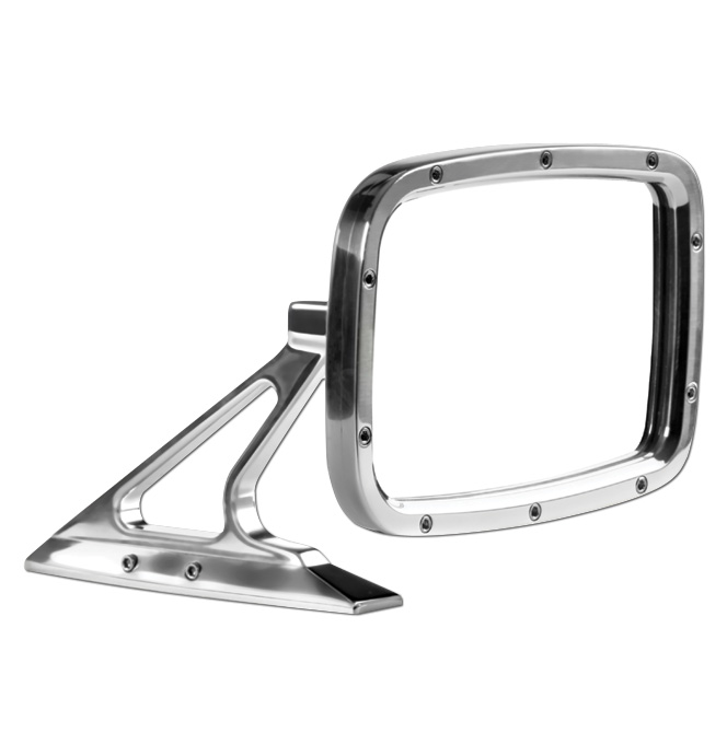 (1947-98)  Outside Mirror Assembly-Rectanglular Polished ea.