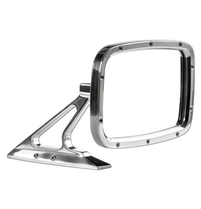 (1947-98)  Outside Mirror Assembly-Rectanglular Polished ea.