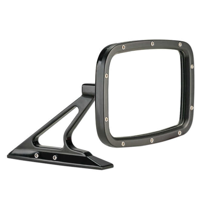 (1947-98)  Outside Mirror Assembly-Rectanglular Black ea.