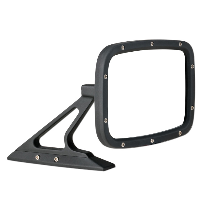 (1947-98)  Outside Mirror Assembly-Rectanglular Flat Black ea.