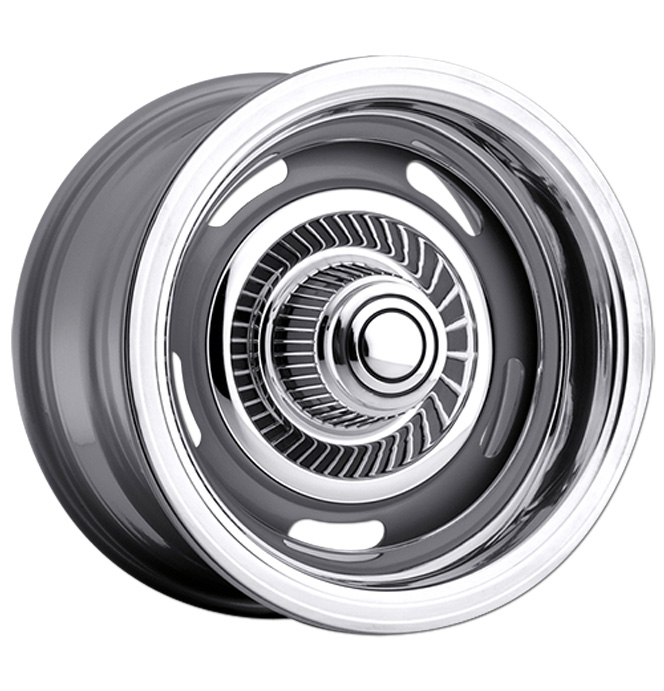 Reproduction Rally Wheel - Silver - 15x8, 6 x 5.5 - each