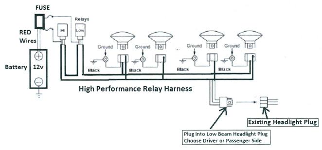 Headlamp Relay Harness Kit - H4